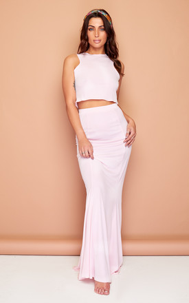 Gypsy Pink Summer Maxi Skirt and Top Set by Wired Angel