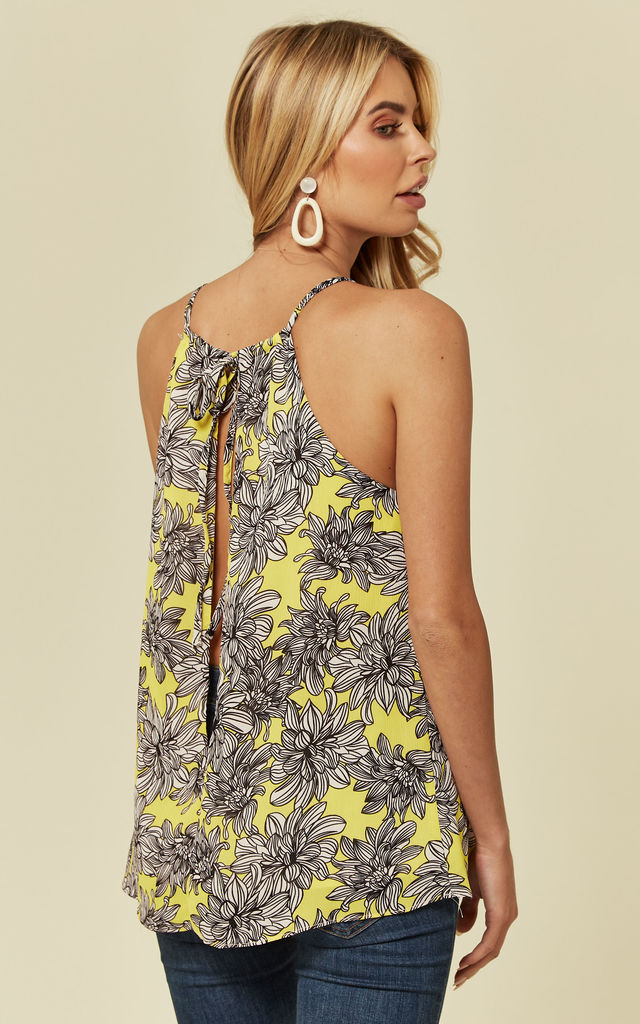 Sleeveless Swing Top in Yellow Floral Print by Madam Rage