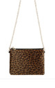 Evening Bag with Gold Chain in Leopard Print by LULU IN THE SKY