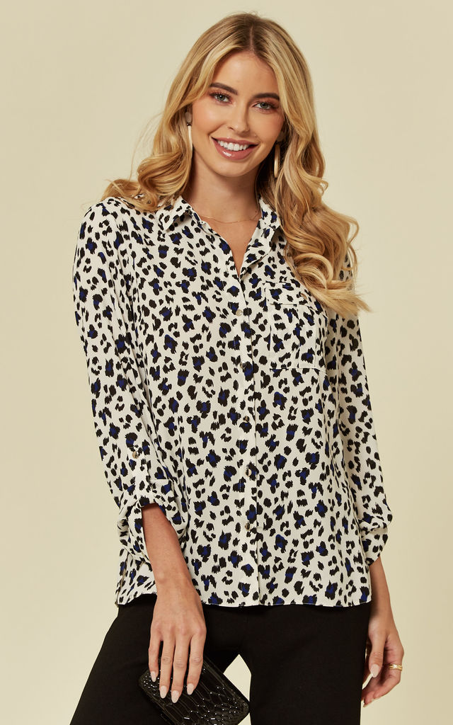 Selina Leopard Animal Print Shirt by Faux England
