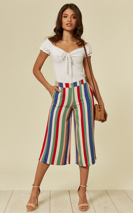 SASHA CABANA CULOTTES in MULTI-COLOUR STRIPE by SUGARHILL BRIGHTON