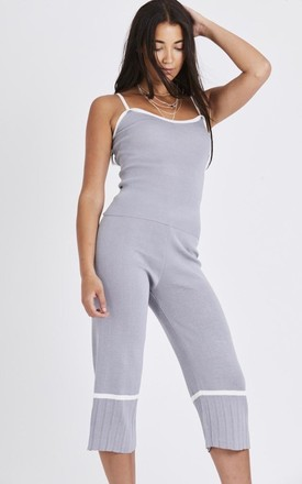 Grey Knitted Cami Top With Trouser Co-ords Suit Set by Emily & Me