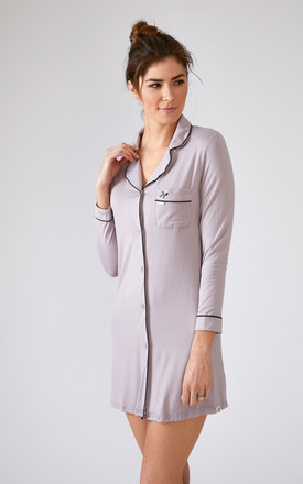 Bamboo Nightshirt Oyster by Pretty You London
