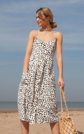 Dalmatian Spot Button Down Cami Midi Dress by Styled In London Product photo