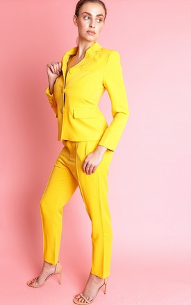 CARUBY TWO PIECE YELLOW CO-ORDS TROUSER SUIT SET by IVY EKONG FASHION