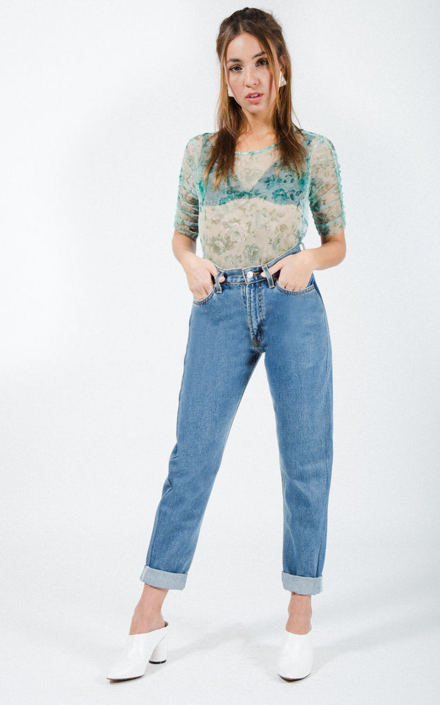 "Vintage 80s Levi's Reworked Pocket Mom ""Mid-Wash"" Jeans / 0217 by Avelinas Vintage"