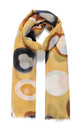 Lightweight Scarf in Yellow Watercolour Circle Geometric Print by Ruby Rocks Boutique