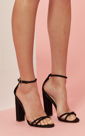 Rectangle Faux Suede Heel by Glamorous