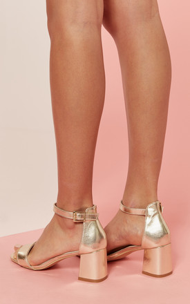 Gold Heeled Sandal by Glamorous