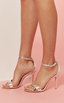 Silver Barely There Heeled Sandal by Glamorous Product photo