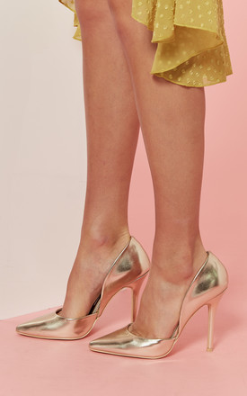 Gold Court Shoe by Glamorous