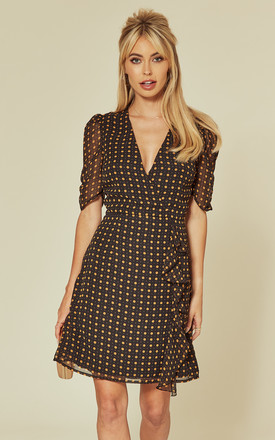 Frill Mini Dress in Polka Dot Print by Another Look