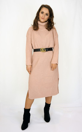 Pink Ribbed Jumper Dress by Styled Clothing Product photo