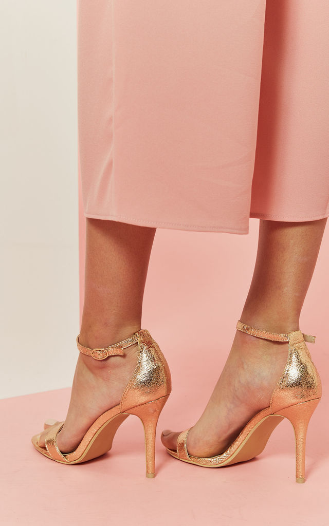 Rose Gold Barely There Sandal by Glamorous