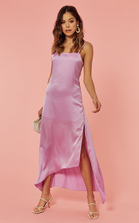 Asymmetric Slip Dress In Lilac by Glamorous Product photo