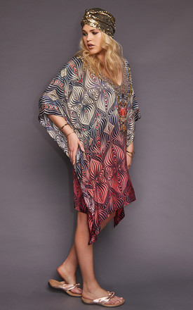 Martina Ombré Swarovski Kaftan by Kitten Beachwear Product photo