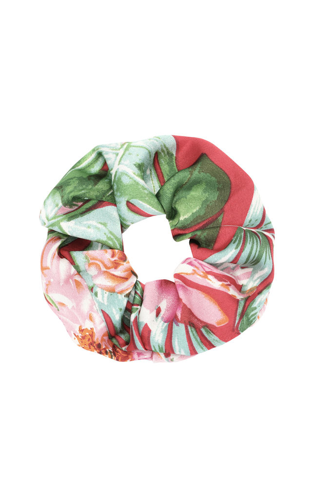 Tropical Print Scrunchie by LULU IN THE SKY