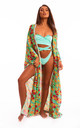 The Hemera Cover up in Tropical Aqua Print by Sian Marie Fashion