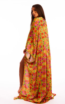 The Hemera Beach Cover Up in Yellow Tropical Print by Sian Marie Fashion