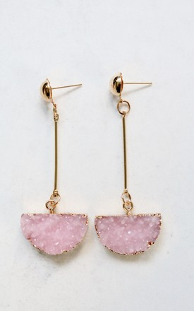 Aurora Rose Quartz Earrings by AVAAYA Product photo