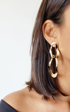Eva Gold Geometric Earrings by AVAAYA Product photo