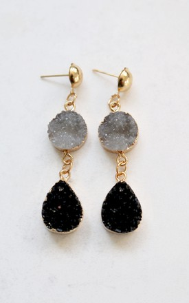 Aurora Grey Druzy Earrings by AVAAYA Product photo
