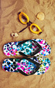 Flip Flops in  Multicolour Floral Print by Art Wow