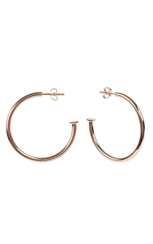 NAILED IT 4CM HOOP EARRINGS ROSEGOLD by Latelita