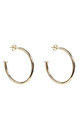 NAILED IT 4CM HOOP EARRINGS SILVER by Latelita