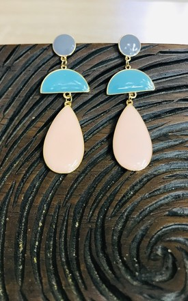 Raindrop Geo Earrings by Pink Lemonade Boutique Product photo