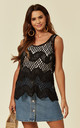 Summer Crochet Vest Top in Black by CY Boutique