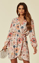 Floral Cocktail Wrap Dress in Blush by Love
