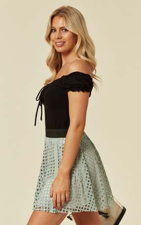 Mesh Summer Mini Skirt in Mint by CY Boutique