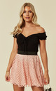 Mesh Summer Mini Skirt in Peach by CY Boutique
