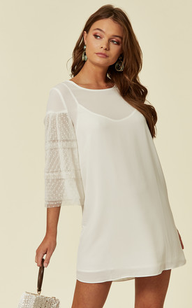 SHIFT MINI DRESS WHITE COLINE by Jovonna London