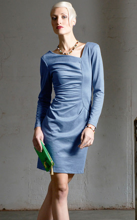 Frieda Long Sleeve Dress In Blue by LAGOM Product photo