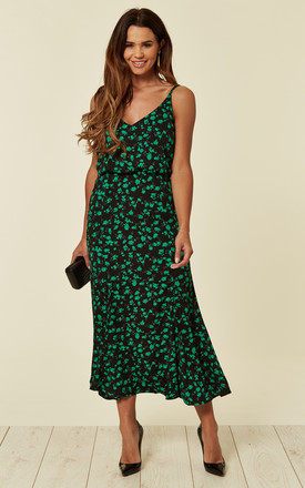 STRAPPY MAXI DRESS GREEN YALE by Jovonna London