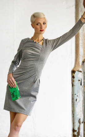 Frieda Long Sleeve Dress In Grey by LAGOM Product photo
