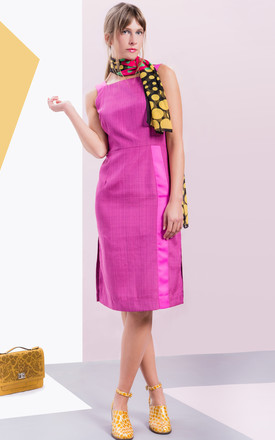 Greta Pencil Dress In Fuchsia Pink by LAGOM Product photo