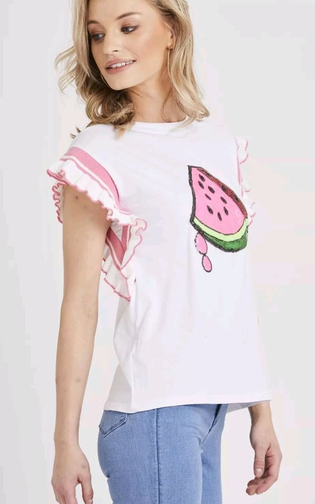 Summer Sequin Watermelon T Shirt by Emily & Me
