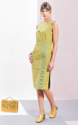 Greta Pencil Dress In Green by LAGOM Product photo