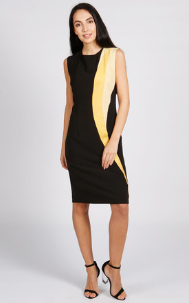 Lollypop Pencil Dress In Black And Yellow by LAGOM Product photo