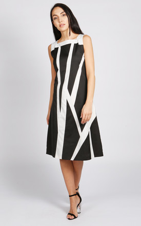 Manhattan A Line Dress In Black And White by LAGOM Product photo