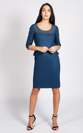 Palermo Bodycon Dress In Blue by LAGOM Product photo