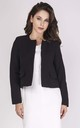 Short Classic Jacket with Front Pockets in Black by Bergamo