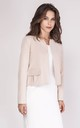 Short Classic Jacket with Front Pockets in Beige by Bergamo