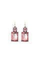 Simple Gem Drop Earring in Rose Pink by LAST TRUE ANGEL
