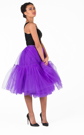 BRADSHAW PURPLE MIDI  TULLE SKIRT by IVY EKONG FASHION