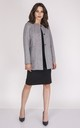 Classic Button Up Coat in Grey by Bergamo