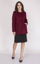 Classic Button Up Coat in Maroon by Bergamo